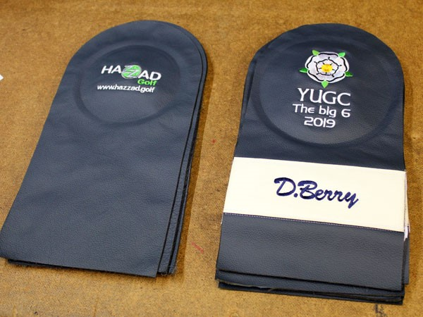 Add the fleece lining to the Personalised Golf Headcover