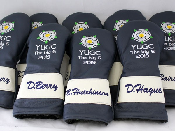 The finished Personalised Golf Headcovers, ready for dispatch around the world