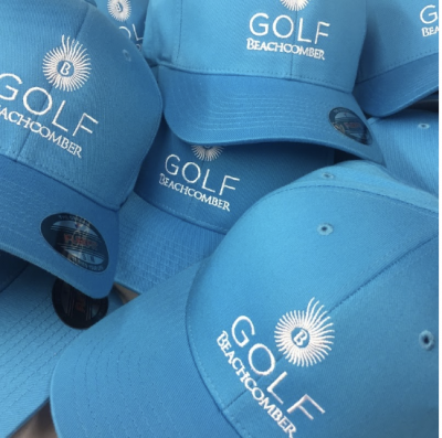 Blue personalised golf cap