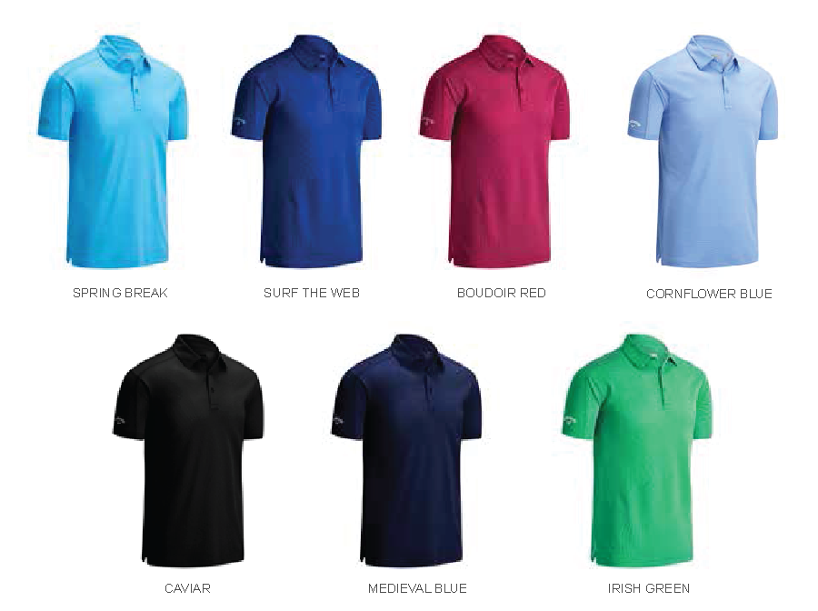 Colours for Callaway Box Jacquard Polo