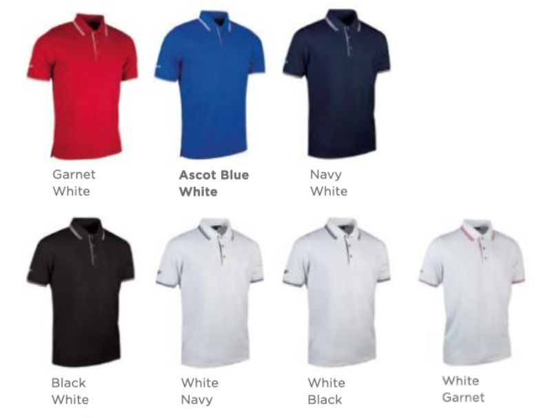 Colours for Glenmuir Etan Polo Shirts