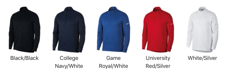 Nike Zipped Pullover Colours