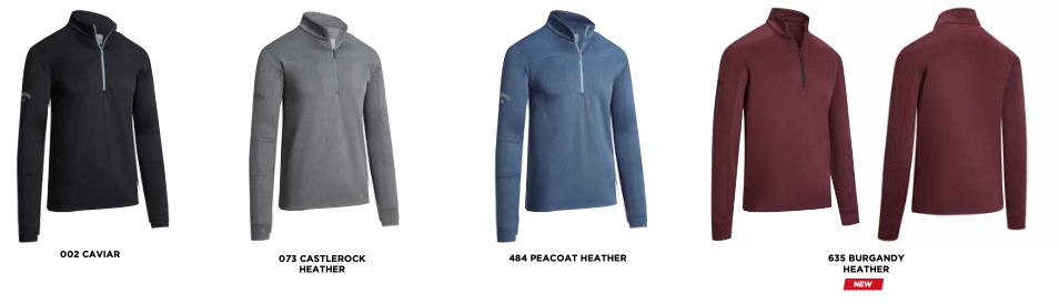 Callaway Pieced Waffle Pullover Colours