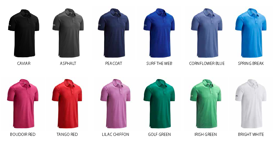 Colours for Callaway Swingtech Polo