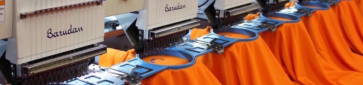 Image of Hazzad Golf's Barudan Embroidery Machine